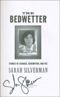 SARAH SILVERMAN - BOOK SIGNED