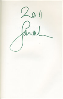 Autographs: SARAH FERGIE (DUCHESS OF YORK) FERGUSON - BOOK SIGNED CIRCA 2011
