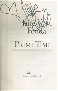 JANE FONDA - BOOK SIGNED