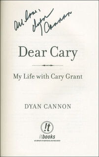 DYAN CANNON - BOOK SIGNED