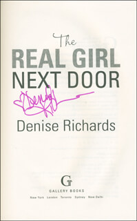 DENISE RICHARDS - BOOK SIGNED