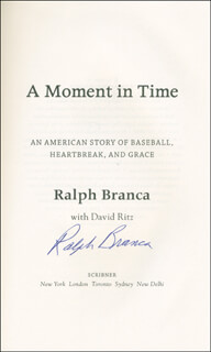 RALPH HAWK BRANCA - BOOK SIGNED