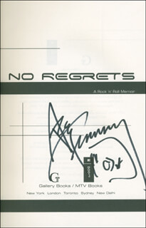 ACE FREHLEY - BOOK SIGNED