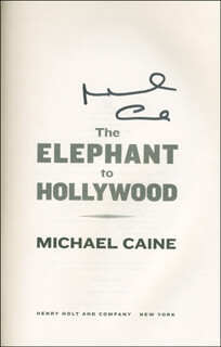 MICHAEL CAINE - BOOK SIGNED  - HFSID 293843