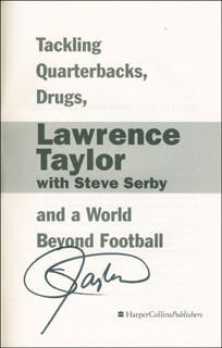 LAWRENCE TAYLOR - BOOK SIGNED