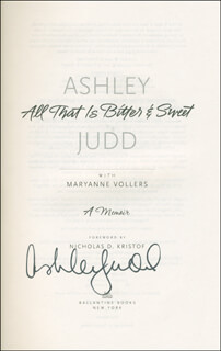 ASHLEY JUDD - BOOK SIGNED