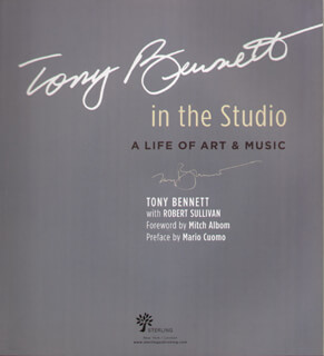 TONY BENNETT - BOOK SIGNED