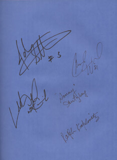 NEW YORK KNICKS - BOOK SIGNED CO-SIGNED BY: GEORGE KALINSKY, JOHN STARKS, SYDNEY SONNY HERTZBERG, RALPH KAPLOWITZ, CHARLIE WARD