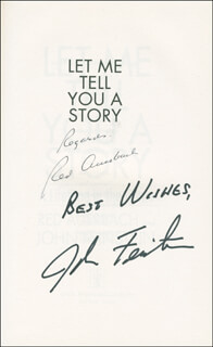 Autographs: RED (ARNOLD JACOB) AUERBACH - BOOK SIGNED CO-SIGNED BY: JOHN FEINSTEIN