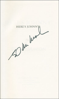 ED McMAHON - BOOK SIGNED