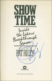 PAT RILEY - BOOK SIGNED