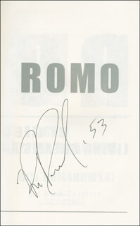 BILL ROMANOWSKI - BOOK SIGNED