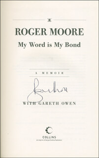 ROGER MOORE - BOOK SIGNED