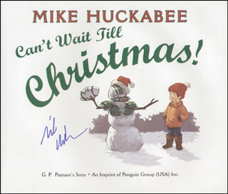 GOVERNOR MIKE HUCKABEE - BOOK SIGNED