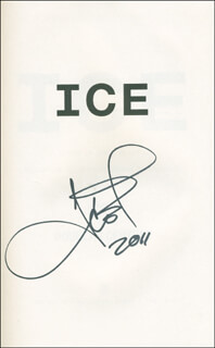 Autographs: ICE-T - BOOK SIGNED 2011
