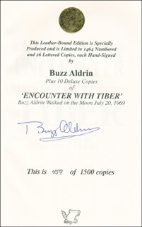 Autographs: COLONEL BUZZ ALDRIN - BOOK SIGNED