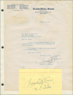 HERBERT ROMULUS O'CONOR - TYPED LETTER SIGNED 03/12/1947