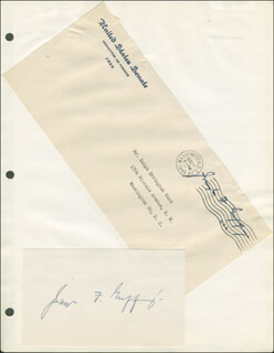 JOSEPH F. GUFFEY - TYPED LETTER SIGNED 08/28/1945