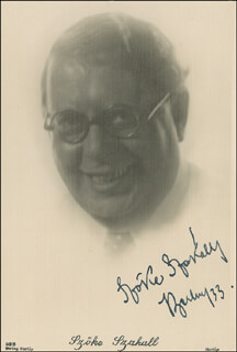 S. Z. CUDDLES SAKALL - AUTOGRAPHED SIGNED PHOTOGRAPH 1933