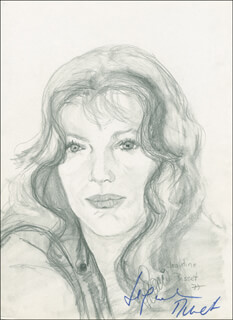 JACQUELINE BISSET - ORIGINAL ART SIGNED