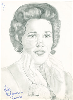 LIV ULLMANN - ORIGINAL ART SIGNED 1975