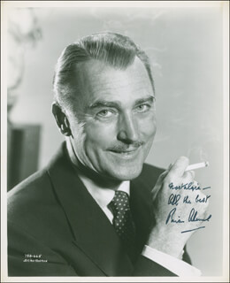 BRIAN AHERNE - AUTOGRAPHED SIGNED PHOTOGRAPH