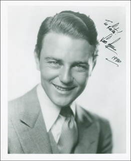 LEW AYRES - AUTOGRAPHED INSCRIBED PHOTOGRAPH 1990