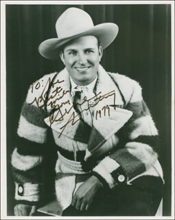 GENE AUTRY - AUTOGRAPHED INSCRIBED PHOTOGRAPH 1979