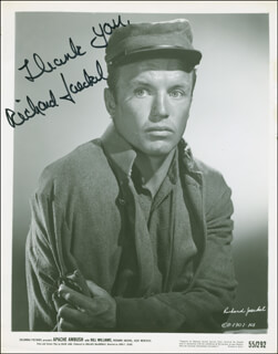 RICHARD JAECKEL - AUTOGRAPHED SIGNED PHOTOGRAPH