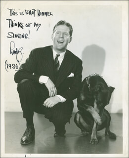 RUDY VALLEE - AUTOGRAPHED SIGNED PHOTOGRAPH 1936