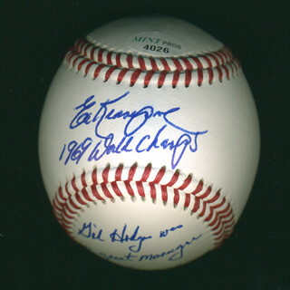 ED KRANEPOOL - BASEBALL SIGNED WITH AQS