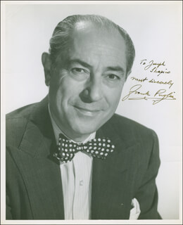 FRANK PUGLIA - AUTOGRAPHED INSCRIBED PHOTOGRAPH