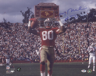 JERRY RICE - AUTOGRAPHED SIGNED PHOTOGRAPH