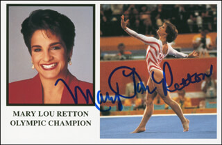MARY LOU RETTON - PICTURE POST CARD SIGNED