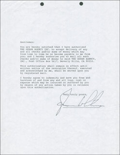 JAMES WHITMORE - TYPED LETTER SIGNED