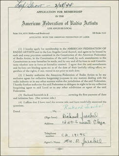 RICHARD JAECKEL - CONTRACT DOUBLE SIGNED 02/28/1944