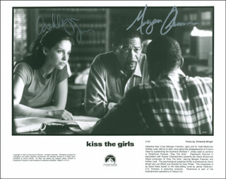 KISS THE GIRLS MOVIE CAST - AUTOGRAPHED SIGNED PHOTOGRAPH CO-SIGNED BY: MORGAN FREEMAN, ASHLEY JUDD