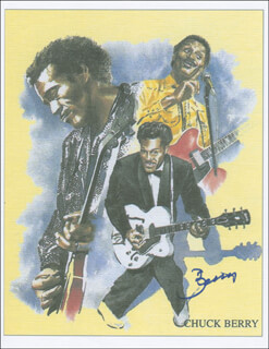 CHUCK BERRY - PRINTED ART SIGNED