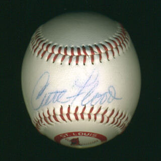 CURT FLOOD - AUTOGRAPHED SIGNED BASEBALL