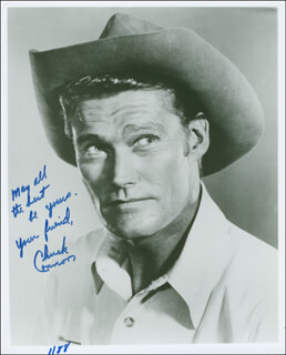 CHUCK CONNORS - AUTOGRAPHED SIGNED PHOTOGRAPH 01/88