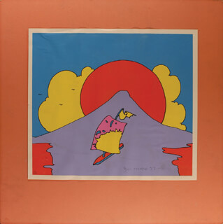 Autographs: PETER MAX - PRINTED ART SIGNED 1972
