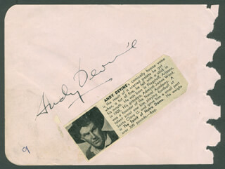 ANDY DEVINE - AUTOGRAPH CO-SIGNED BY: GRANT WITHERS