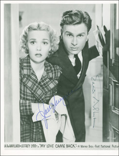 MY LOVE CAME BACK MOVIE CAST - AUTOGRAPHED SIGNED PHOTOGRAPH CO-SIGNED BY: EDDIE ALBERT, JANE WYMAN