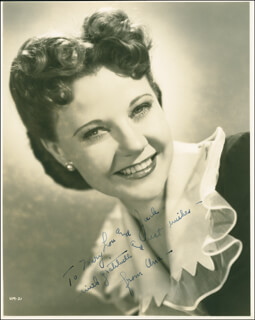 UNA MERKEL - AUTOGRAPHED INSCRIBED PHOTOGRAPH