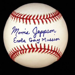 Autographs: ENOLA GAY CREW (MORRIS JEPPSON) - ANNOTATED BASEBALL SIGNED
