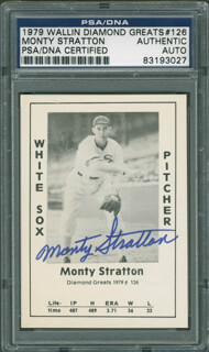 MONTY STRATTON - TRADING/SPORTS CARD SIGNED