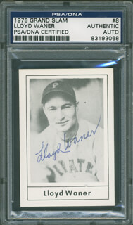 LLOYD LITTLE POISON WANER - TRADING/SPORTS CARD SIGNED