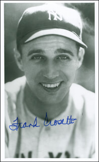 FRANK CROSETTI - AUTOGRAPHED SIGNED PHOTOGRAPH