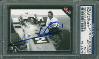 Autographs: MARIO ANDRETTI - TRADING/SPORTS CARD SIGNED