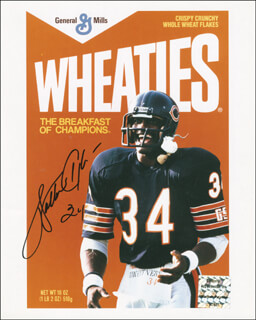 WALTER SWEETNESS PAYTON - AUTOGRAPHED SIGNED PHOTOGRAPH